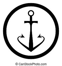Black anchor icon
