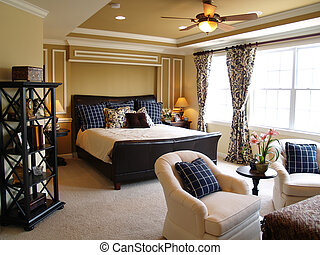 Black and Blue Master Bedroom - Nicely decorated master ...