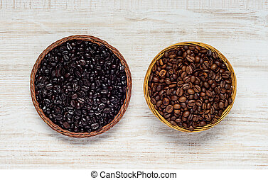 Black and Brown Coffee Beans