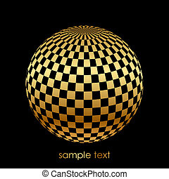 black and gold ball