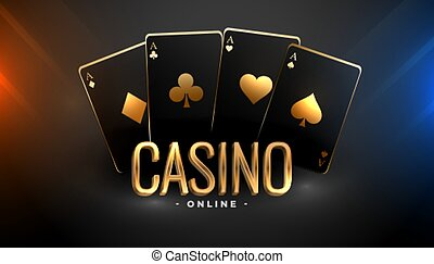 black and gold casino playing cards background