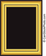 Black and gold frame
