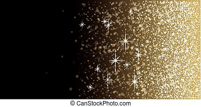 Black and Gold glitter background