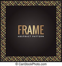 Black and gold luxury geometric abstract frame background