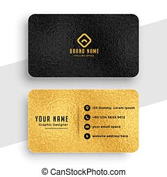 black and gold premium stylish business card design