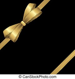 Black and gold ribbon