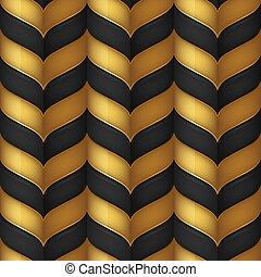 Black and gold seamless background - Abstract black and gold...