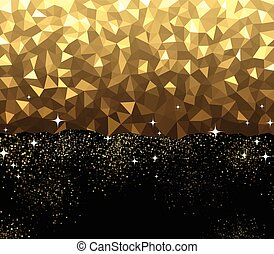 Black and golden abstract background.