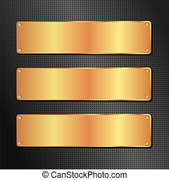 black and golden background with copy space
