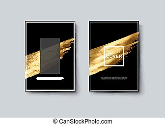 Black and golden luxury cover design.
