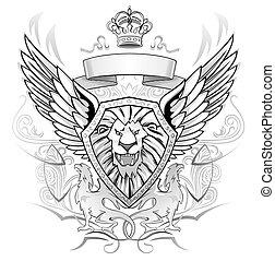 Black and Gray Emblem