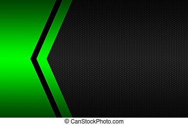 Black and green abstract vector background with polygonal pattern. Template for your banner and presentation. Modern vector design illustration