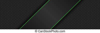 Black and green modern material design with polygon header. Corporate template for your business. Vector abstract widescreen background