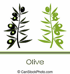 Black and Green Olives Branch