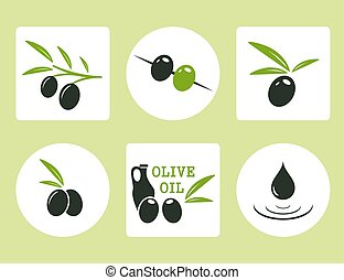 black and green olives with oil olive