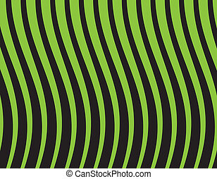 black and green striped background. Vector illustration