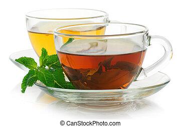 Black and green tea
