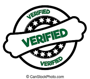 Black and green VERIFIED stamp.