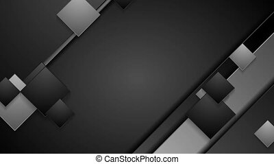 Black and grey geometric abstract video animation