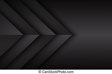 Black and grey overlayed arrows. Abstract modern vector background with place for your text. Material design. Abstract widescreen background
