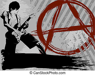 Black and grey Punk rock background - Edgy music background....