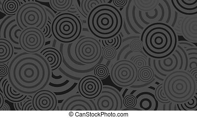 Black and grey rings abstract video animation - Black and...