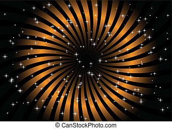 Black and orange swirl