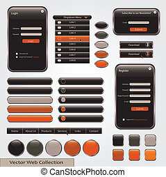 Black and Orange Web Forms Template