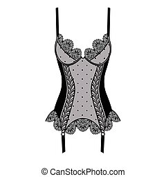 Black and pink lacy corset