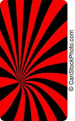 Black and red abstract dotted spiral background. Screen vector design for mobile app