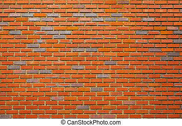 Black and Red brick wall
