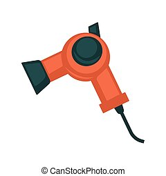 Black and red hair dryer - Vector illustration of black and...