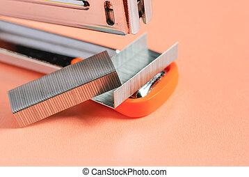 office stapler isolated