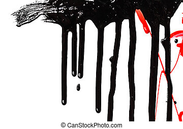 Black and red paint