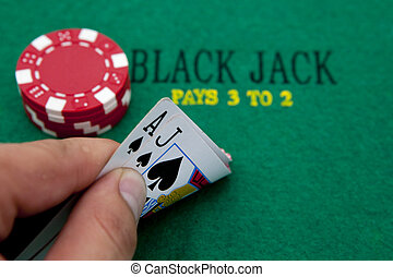 Black and red poker chips