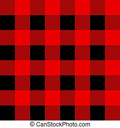 Black and red tartan plaid Scottish seamless pattern. ...