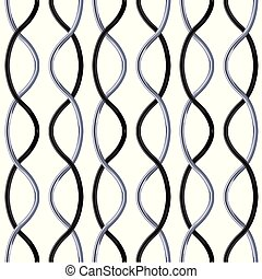 Black and silver chrome Steel Grating seamless structure vector.