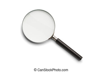 Magnifying Glass - Black and Silver Magnifying Glass...