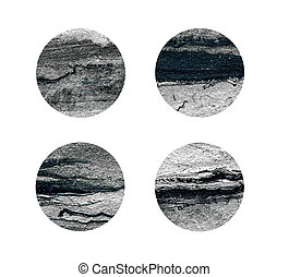 Black and silver rounds isolated on white