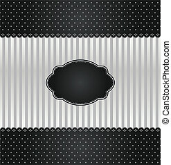 Black and silver vintage invitation cover. This image is a...
