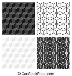 Black and white 3D texture.