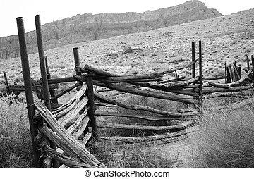 old corral in the desert
