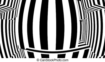 Black and white abstract background. Seamless loop