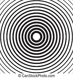 Black and white abstract concentric circles texture,...