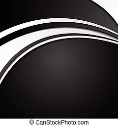 Black and white abstract corporate wavy background