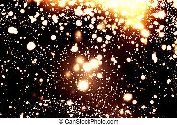 Black and White abstract lights - Sparkling Christmas...