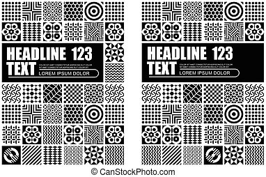 Black and White Abstract Pattern Template Design