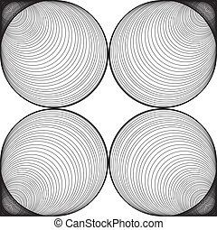 Black and White Abstract Psychedelic Background.
