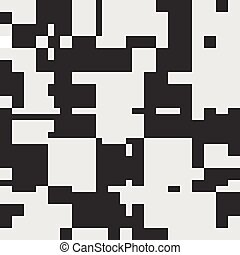 Black and White Abstract Rectangles Art Graphic Design -...