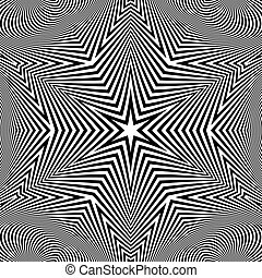 Black and White Abstract Striped Background.